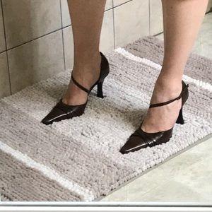 Aldo heels, leather.